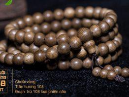 Vòng tay trầm hương thiên nhiên 108 hạt – Trang Sức Đẹp